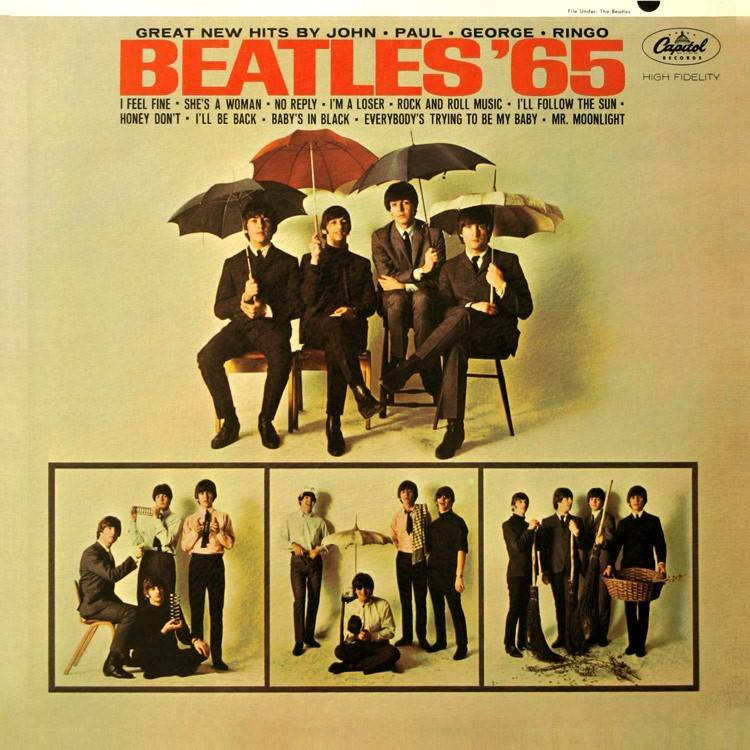 Front cover of Beatles '65 LP jacket