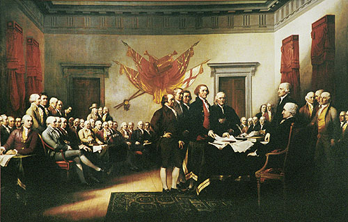 """Declaration of Independence, July 4, 1776"", by John Trumbull"