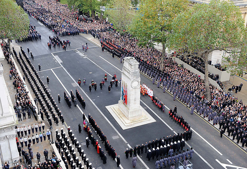 Her_Majesty_the_Queen_Lays_a_Wreath_at_the_Cenotaph_London_During_Remembrance_Sunday_Service_MOD_45152054