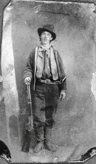 The one known surviving photograph (a tintype) of Billy The Kid