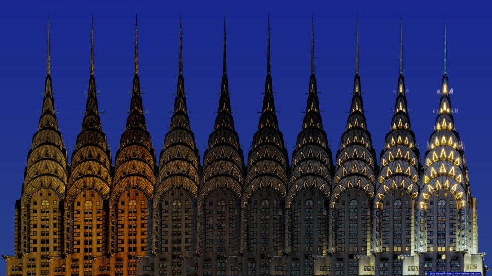 Chrysler Building time lapse - sunset to night
