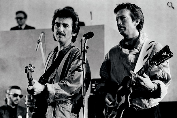 614px-George-Harrison-p72-GH-with-Eric-Clapton1