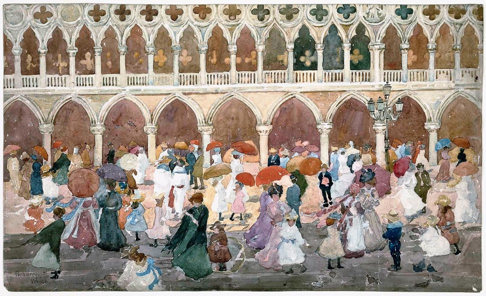 Prendergast_Sunlight on the Piazzetta (2)