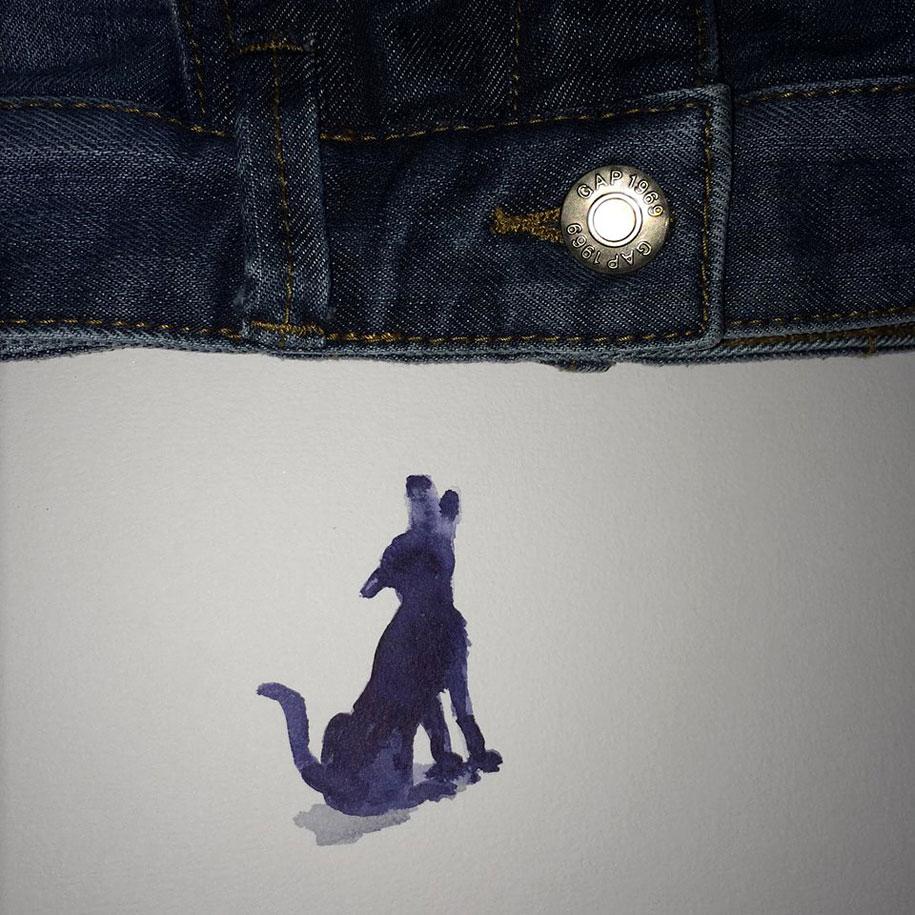 Niemann dog howling at jeans moon